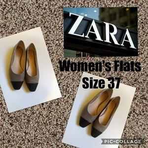Zara Woman Flat Shoes Size 37